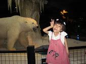 Kristi meets the polar bear