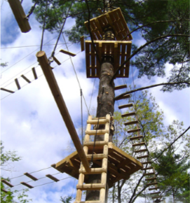Ropes Course near Gatlinburg and Pigeon Forge