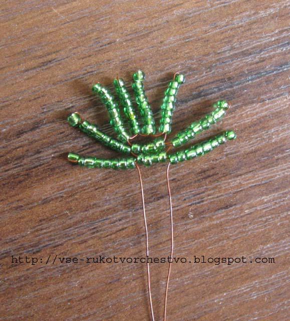 Пальма веерная из бисера. .  Схема, мастер-класс.