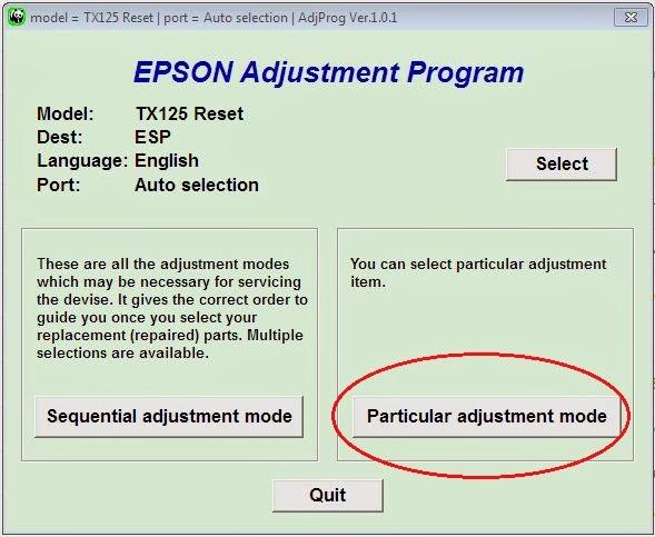 particular adjustment program impresors epson stylus tx120