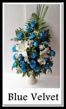 bunga mawar biru