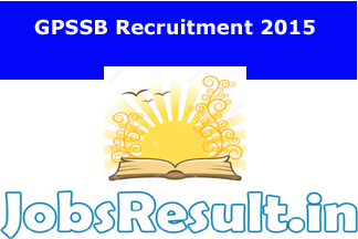 GPSSB Recruitment 2015