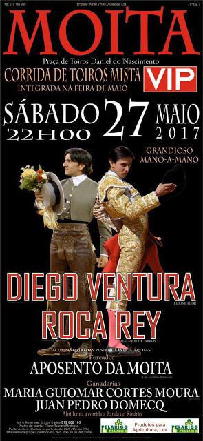 MOITA (PORTUGAL) 27-05-2017. CORRIDA MISTA .DIEGO VENTURA Y ROCA REY.