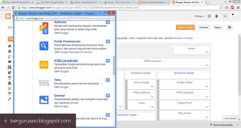 Cara Desain Template Blog dengan Social Sharing Widget