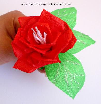 Como hacer flores de papel crepe cositasconmesh - Como hacer cosas de papel paso a paso faciles ...