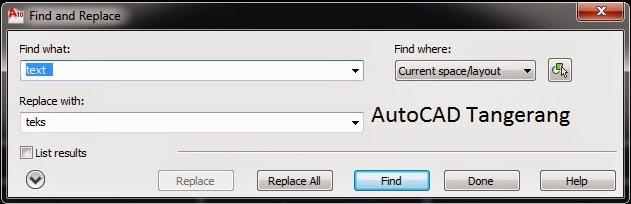 Cara Mengganti Teks di AutoCAD.