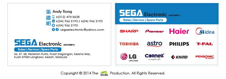 Sega Electronic, Sales, Service, Spare Parts
