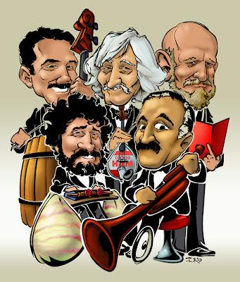 Dibujo-caricatura de Les Luthiers