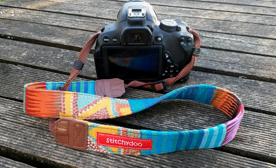 Buntes sommerliches Kameraband - ethno, aztek