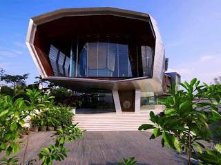 Casa de diseño arquitectónico futurista en Malacia