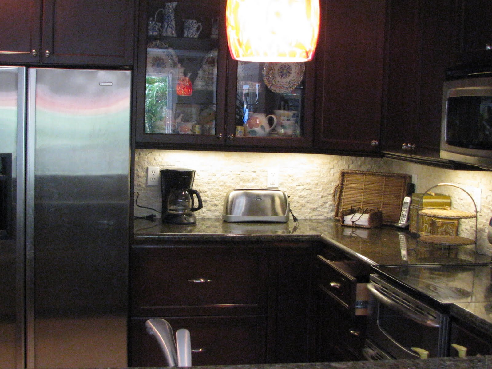 kitchen the under cabilighting the corner cabinets with tons of