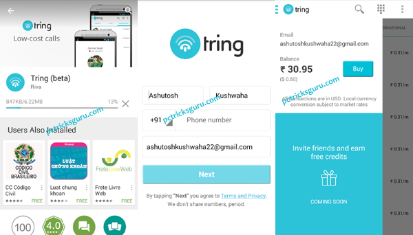 Make cheap international calls with Tring app
