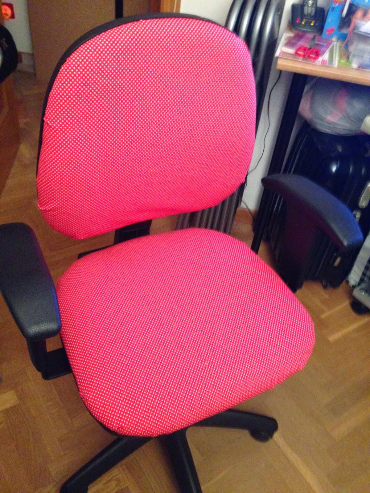 Lo que me sale en mi Blog: Tapizar una silla de oficina