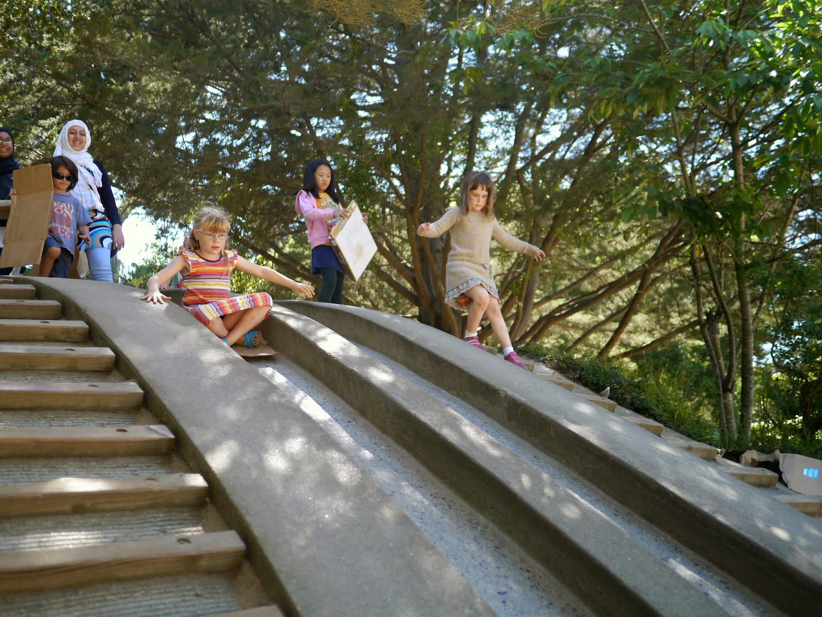 and the concrete slides