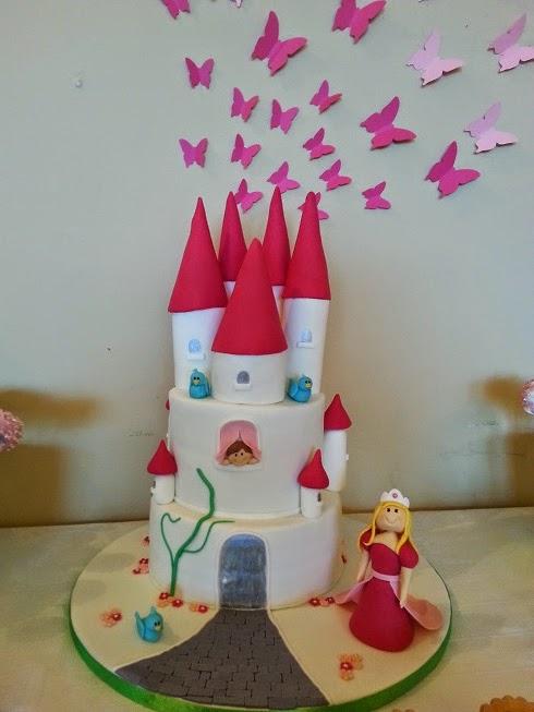 tarta castillo de princesas