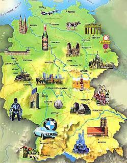 Германия карта достопримечательностей