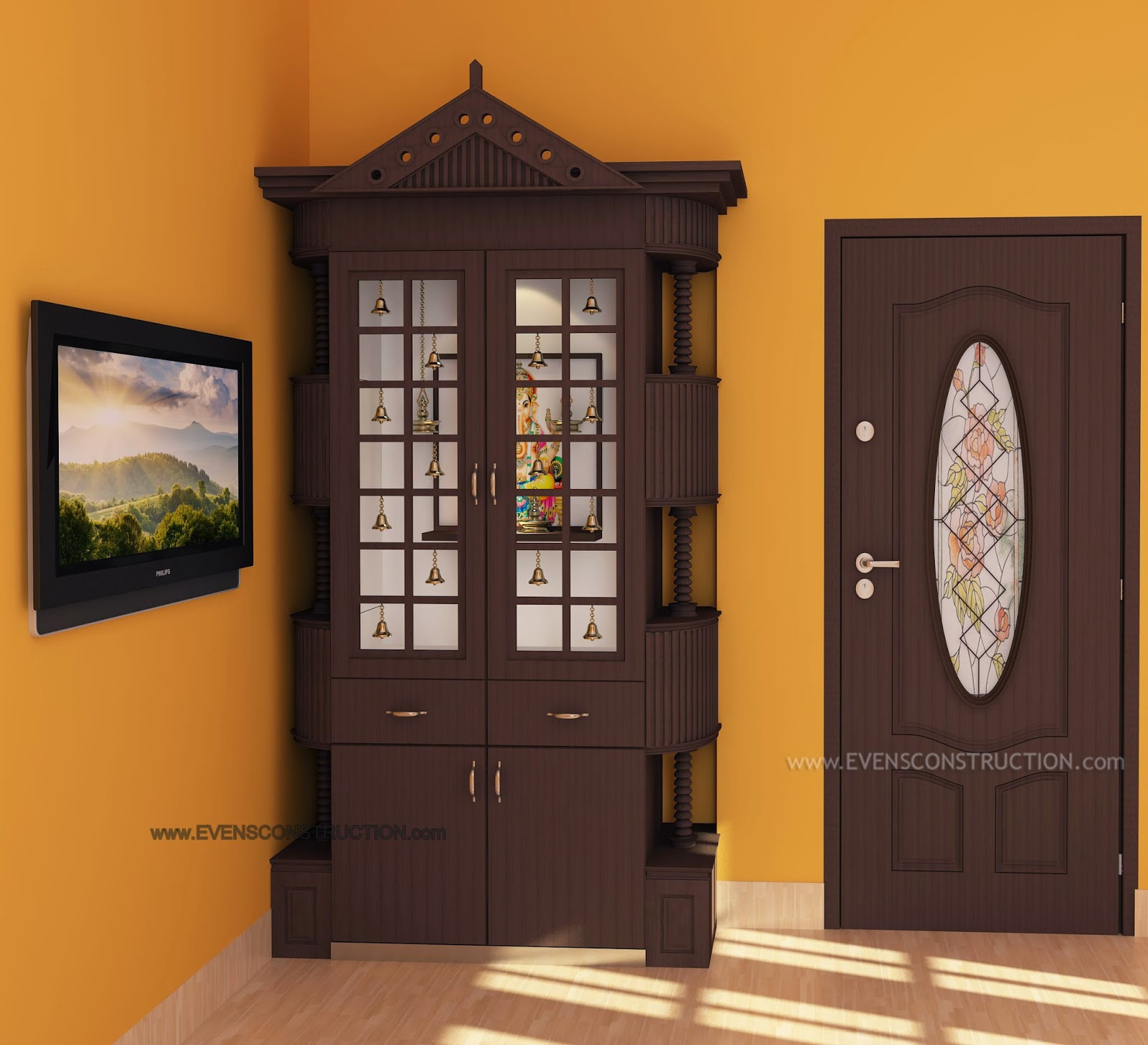 Wall Mounted Pooja Mandir Designs Google Search Projects To Pooja. God Room  Door Designs Part 43