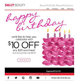 June/July Sally's Coupon