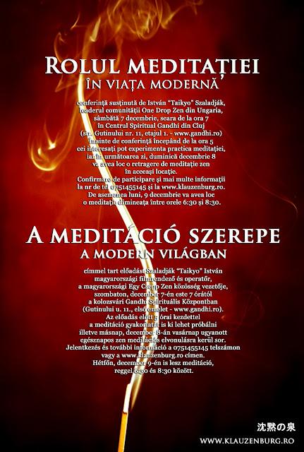 Szaladják Taikyo István, zen, zazen, meditáció, elvonulás, Kolozsvár