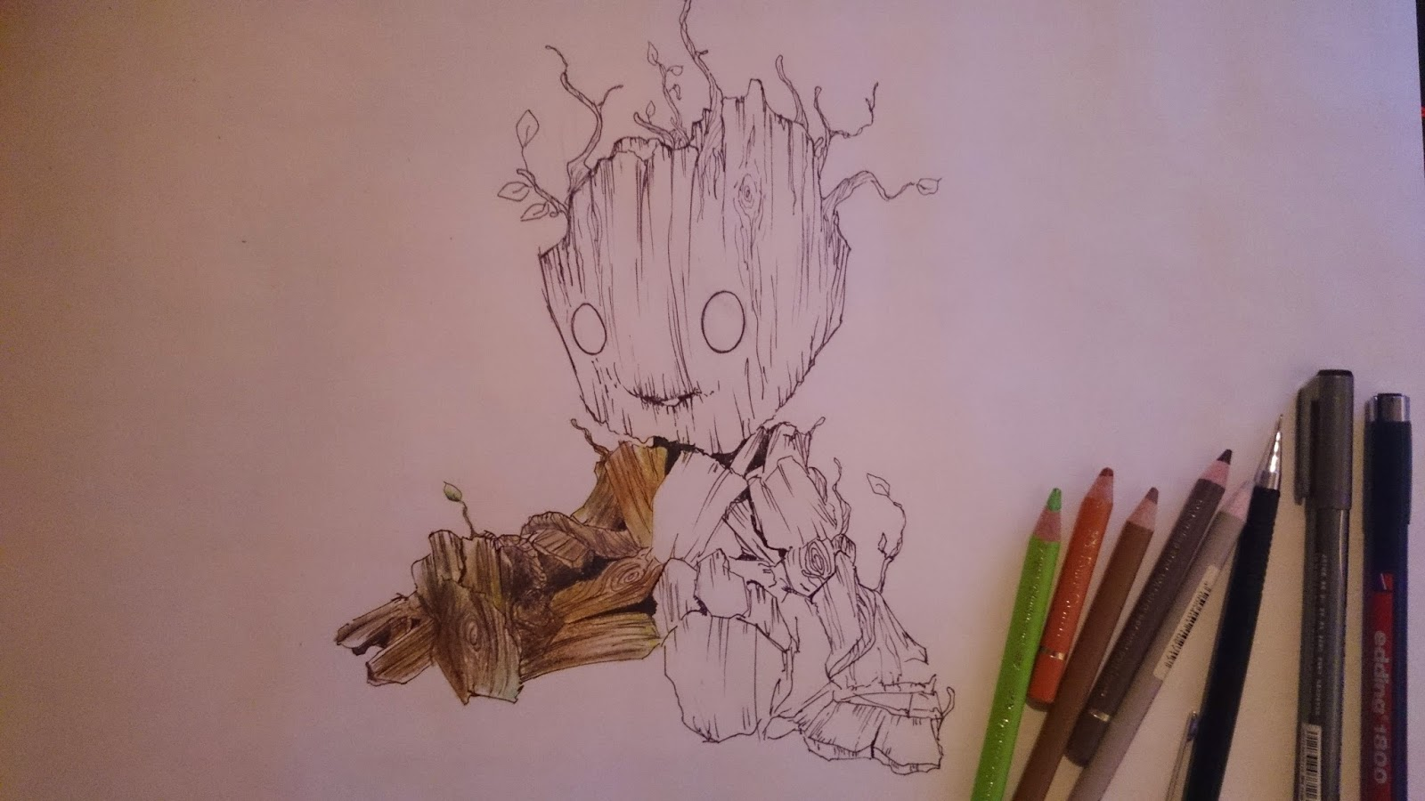 Groot - Guardians of the Galaxy: Colouring