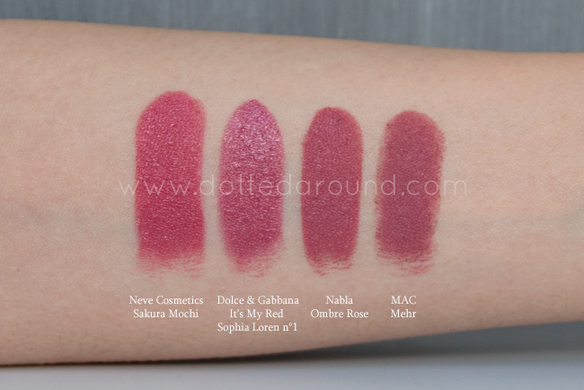 Dolce Gabbana Sophia Loren lipstick swatch