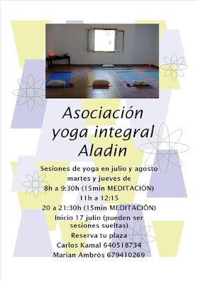 Clases regulares de yoga en Caudiel, también en agosto