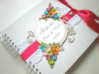 Kniha hostí pre Veroniku / Wedding guest book for Veronika