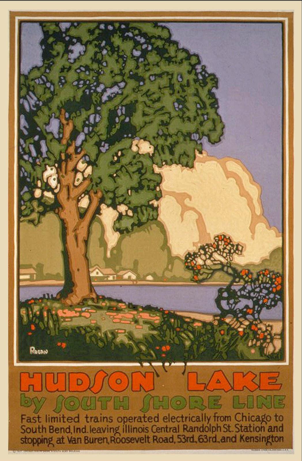 Niagra Falls Vintage Railroad Travel Poster 11x17 inch Travel by Train