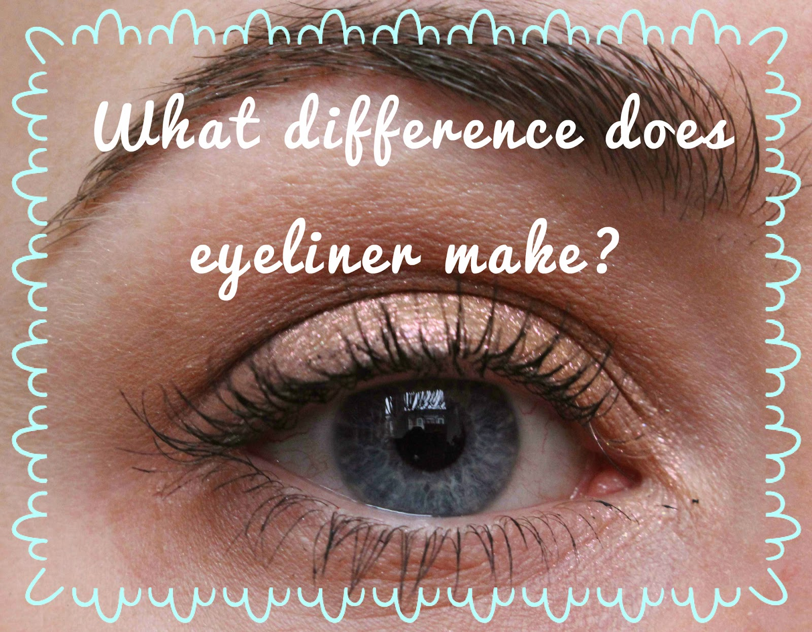 What difference does eyeliner make?