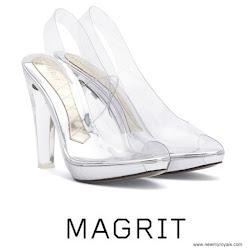 Queen Letizia Style MAGRIT Sandals and FELIPE VARELA Clutch Bag