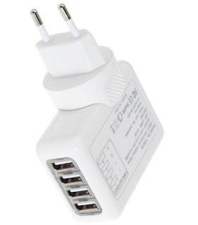 Charger USB 4 Port (Colokan)