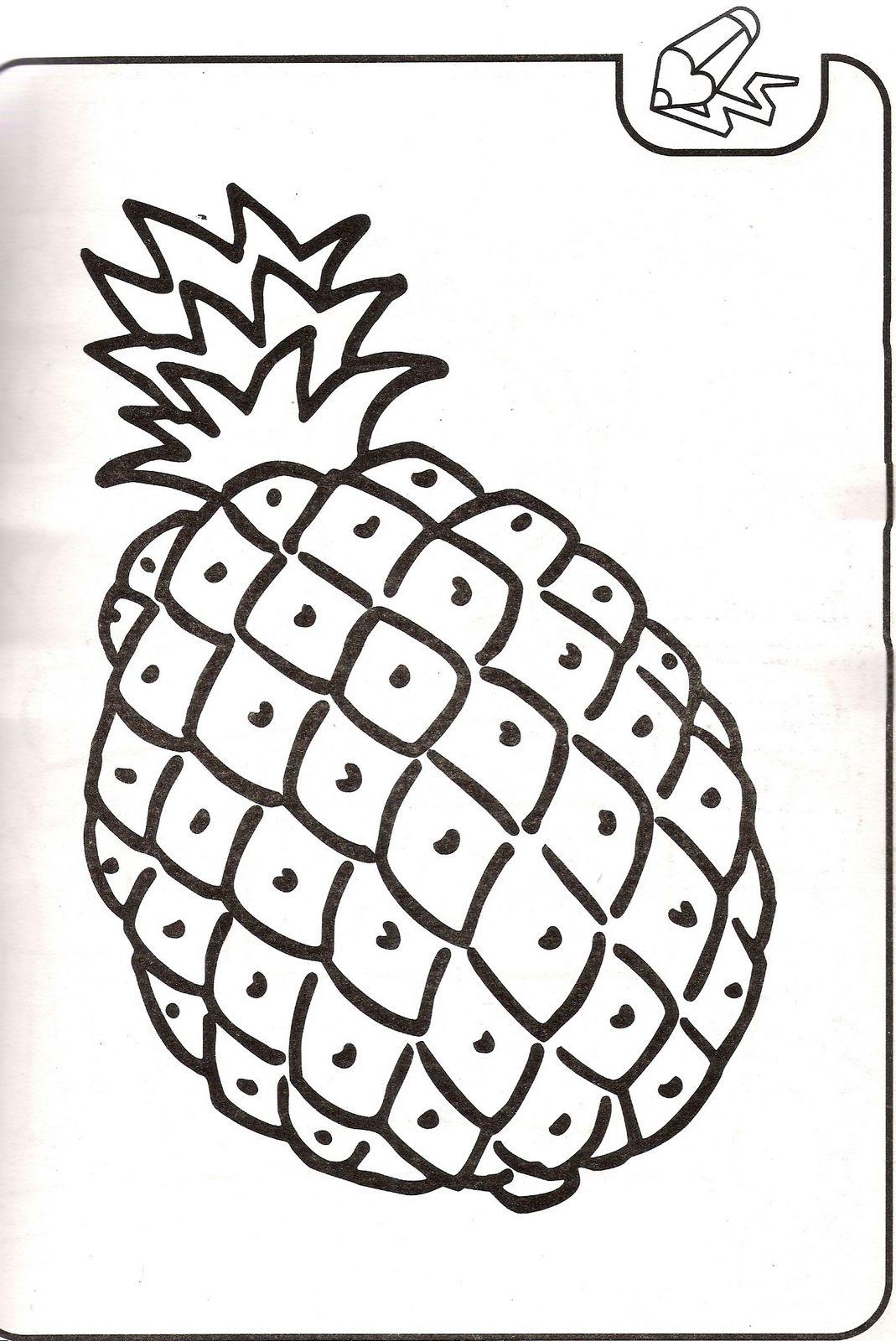 Dibujos para colorear: Dibujos de piña para colorear