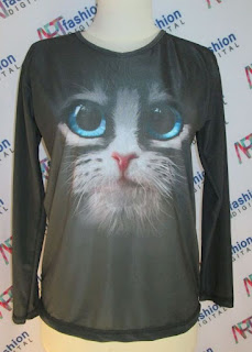 Kaos Kucing 3D Hitam