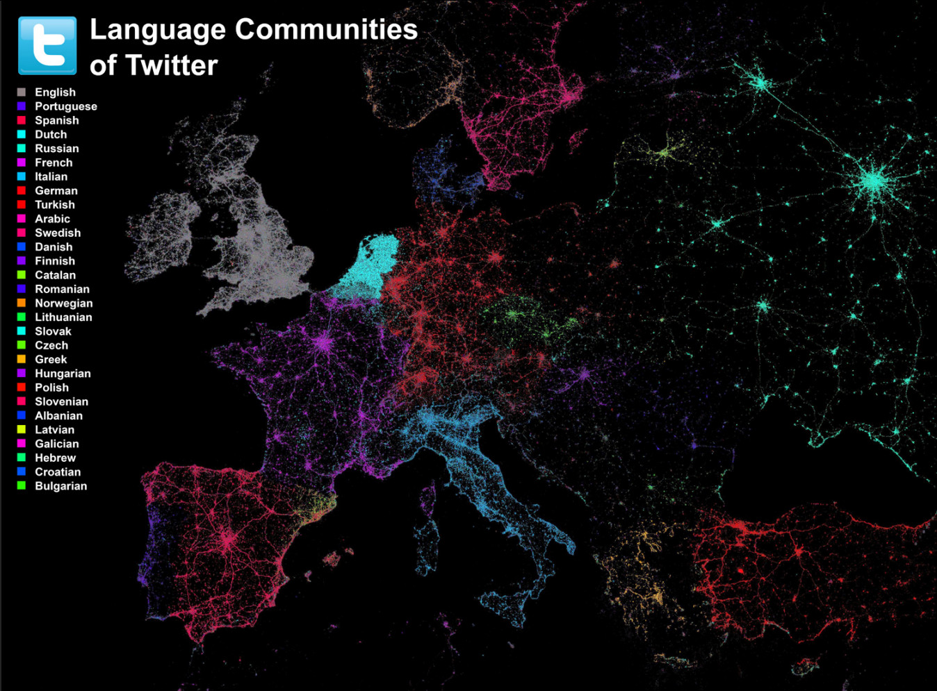 Language communities of Twitter
