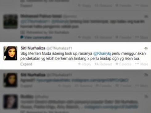Siti Nurhaliza bidas, Khairy Jamaluddin masih membisu