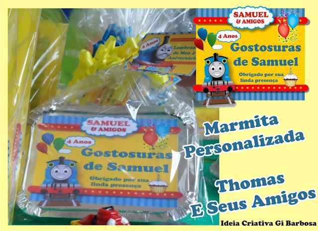 Marmita  Personalizada para Aniversário - Thomas e Seus Amigos