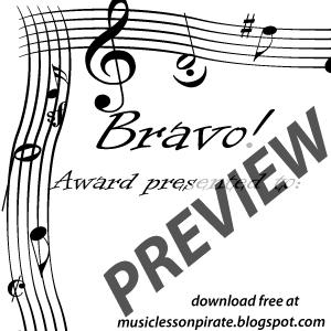 Music lesson pirate music teaching resources printable music bravo music award certificate yelopaper Images