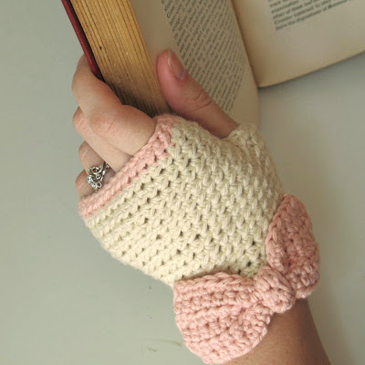 fingerless gloves, crochet, my projects