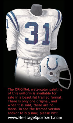 Baltimore Colts 1970 uniform - Indianapolis Colts 1970 uniform