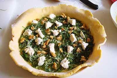 Torta salata agretti e gorgonzola 13