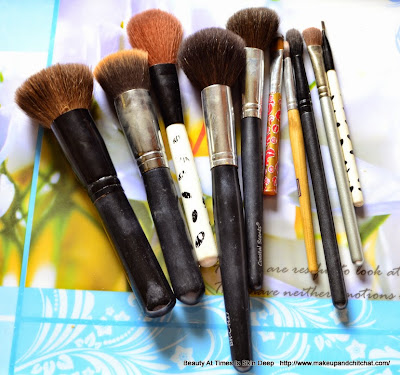 Essential makeup brushes for face and eyes