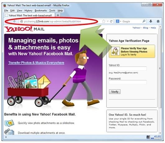 Gambar: Contoh tampilan phising site