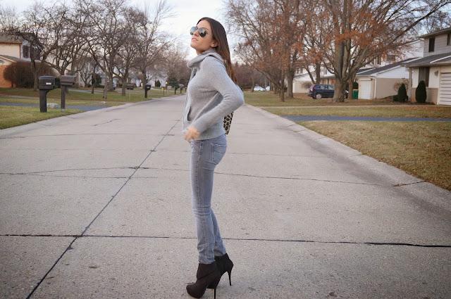 grey rag & bone jeans, topshop sweater