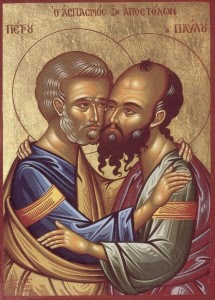 Sfinţii Apostoli Petru şi Pavel - LA MULŢI ANI SĂRBĂTORIŢILOR DE AZI !