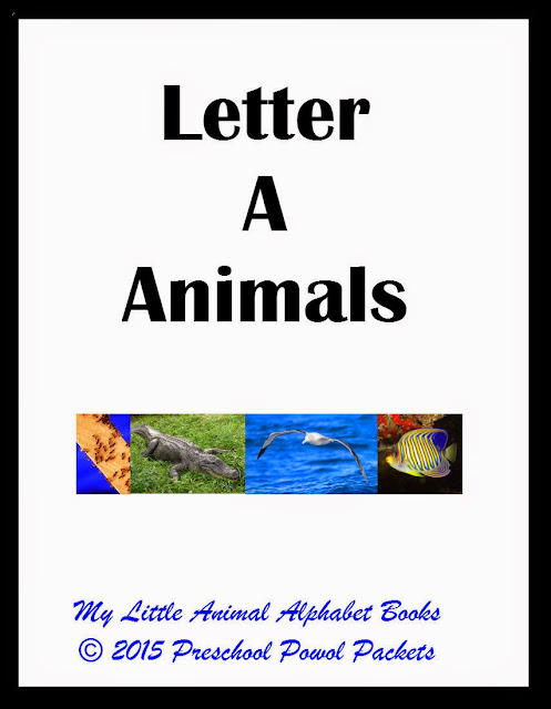 FREE} My Little Animal Alphabet Books Letter A | Preschool Powol