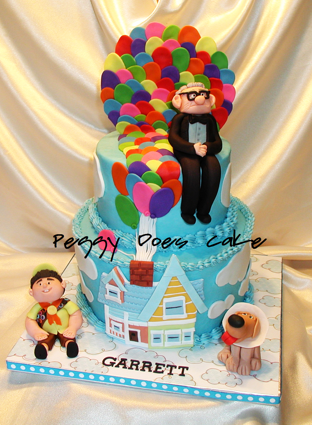 Peggy Does Cake Garretts Up Themed First Birthday Cake