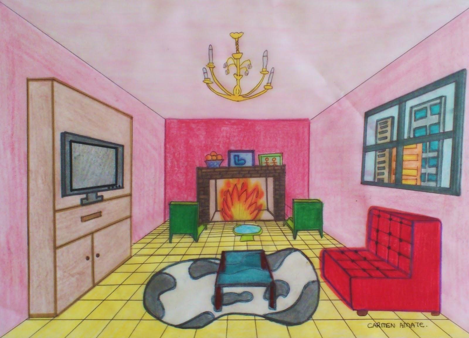 Qu arte quillo dise os de habitaciones en perspectivac nica frontal 2eso - Habitacion en perspectiva conica ...