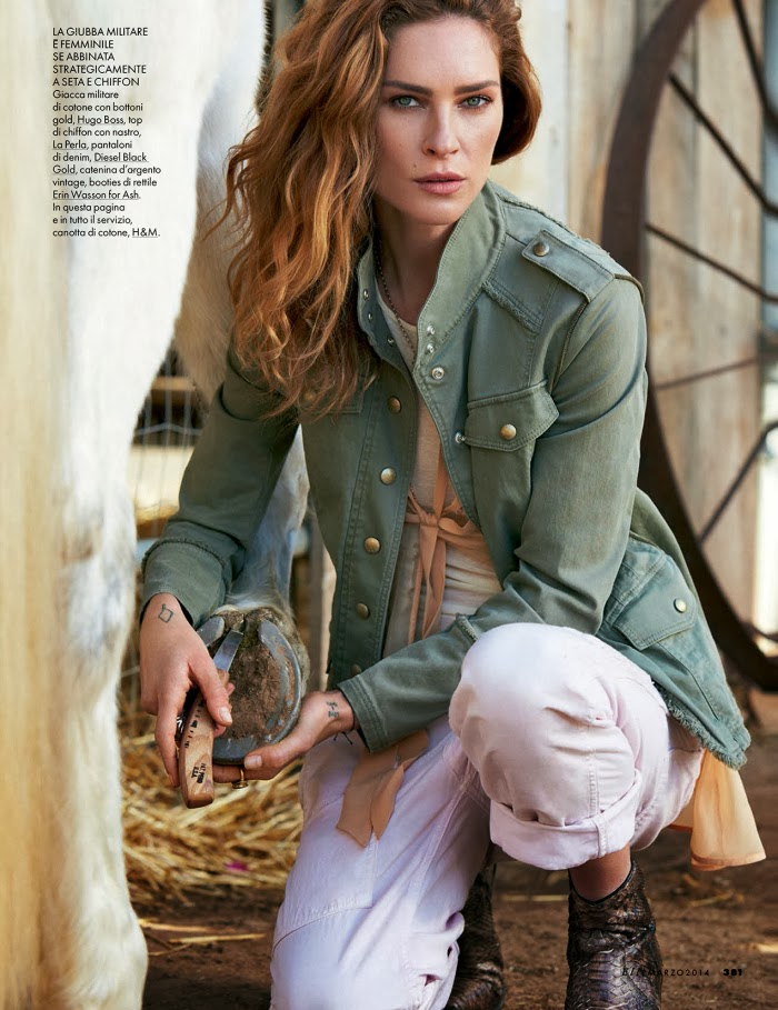 Erin Wasson HQ Pictures Elle Italy Magazine Photoshoot March 2014