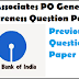 SBI Associates PO Exam Paper General Awareness Previous Year Question Paper