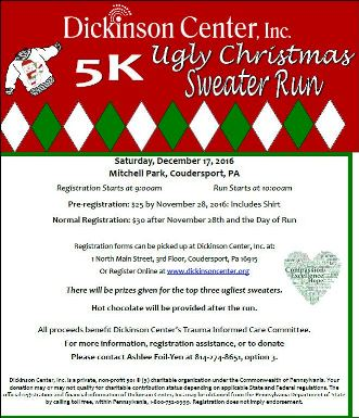 12-17 5K Ugly Sweater Run Dickinson Center